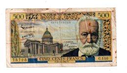 500 Francs -Victor Hugo-voir état