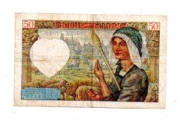 Un Billet De 50 Francs -Jacques Coeur-voir état