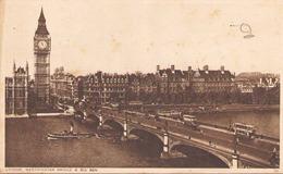 LONDON WESTMINSTER BRIDGE AND BIG BEN