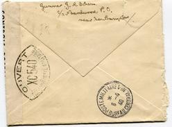 Cachet POSTE MILITAIRE BUREAU CENTRAL N°1 Du 06/04/1940 Sur Env. De SOUTHAMPTON+contrôle N°XC540 - 1921-1960: Moderne