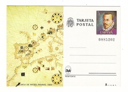 ESPAGNE  1980  /  ENTIER  POSTAL  NEUF  ( Carte Postale Numérotée ) /  CARTA  DE  MATEO  PRUNES , En 1563 - Entiers Postaux