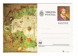 ESPAGNE  1980  /  ENTIER  POSTAL  NEUF  ( Carte Postale Numérotée ) /  CARTA  DE  JUAN  DE  LA  COSA , En 1500 - 1931-....