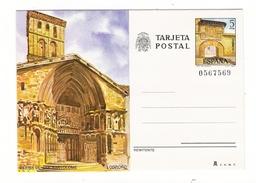 ESPAGNE  1980  /  ENTIER  POSTAL  NEUF  ( Carte Postale Numérotée ) /  LOGRONO , IGLESIA  DE  SAN  BARTOLOME - 1931-....
