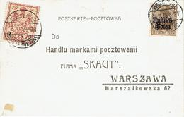 WARSZAWA - VARSOVIE 13 Novembre 1915 Michel N°5 - Postkarte - Timbre Poste Local - Storia Postale