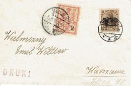 WARSZAWA - VARSOVIE 13 Novembre 1915 Michel N°5 - Druki - Timbre Poste Local - ....-1919 Provisional Government