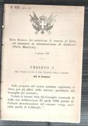 COLDIRODI-PORTO MAURIZIO.-REGIO DECRETO. CHE AUTORIZZA IL COMUNE DI COLLA AD ASUMERE LA DENOMINAZIONE -1882.MM127 - Decreti & Leggi