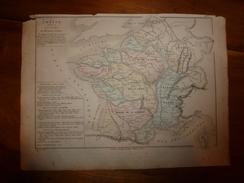 1861 Carte Géographique De La FRANCE (divisée En BASSINS) Par Drioux Et Leroy, Gravure Jenotte - Geographical Maps