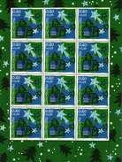 Luxembourg Feuillet De 10 Timbres à 0,60 + 0,05 Euro Boite Aux Lettres Et Arbre De Noel Timbre De Bienfaisance 2012