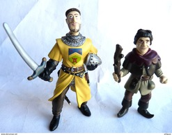2 FIGURINES PORTE CLES LES VISITEURS - Plastoy 1998 - JACQUOUILLE & SIRE GODEFROY DE MONTMIRAIL (3) - Figurines