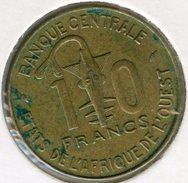Afrique De L´Ouest West African States Union Monétaire 10 Francs 1989 BCEAO UMOA KM 10 - Autres – Afrique