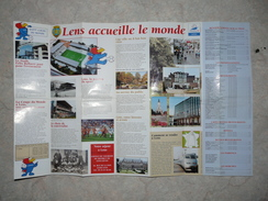 Dépliant Coupe Du Monde Football 1998 Lens Bollaert Plan - Apparel, Souvenirs & Other