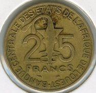 Afrique De L´Ouest West African States Union Monétaire 25 Francs 1997 BCEAO UMOA KM 9 - Monnaies