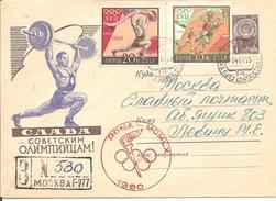 1960 URSS Jeux Olympiques De Rome Entier Postal Recommandé; FDC Série Olympique