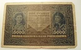 1920 - Pologne - Poland - 5000 MAREK, III SERJA A N° 606395 - Poland