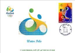ALGERIE ALGERIA 2016 - FDC Olympic Games Rio 2016 Water Polo Olympische Spiele Olímpicos Olympics