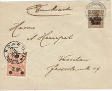 WARSZAWA - VARSOVIE 26 Mars 1916 Michel N°9  - Timbre Poste Local + Aff. Allemand - Drusksachen - ....-1919 Provisional Government