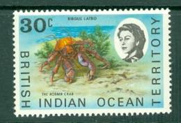 British Indian Territory (BIOT): 1968/70   QE II - Marine Life   SG20a    30c   MH - British Indian Ocean Territory (BIOT)