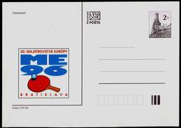 517-SLOVAKIA Prepaid Postal Card-with Imprint 20 EM Im Tischtennis-20 European Championship In Table Tennis 1996