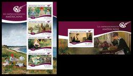 TOGO 2014 - American Impressionists - YT 4254-7 + BF928; CV = 31 €