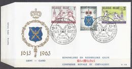 BELGIQUE - Cob - FDC Timbres 1246/48 -cote 2,50 € -  350e Anniversaire De La Gilde Gantoise Des Escrimeurs Saint-Mi