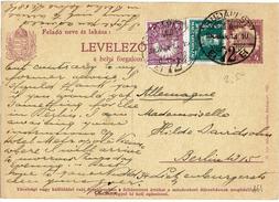 CIRC9- HONGRIE EP CP A DESTINATION DE L'ALLEMAGNE MARS 1930