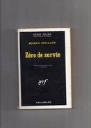 """SERIE  NOIRE    N °  1409  --  MICKEY  SPILLANE   --  """"""""  ZERO  DE  SURVIE  """"""""  --  1971  --  BEG.... - Série Noire"""