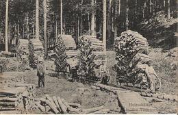 HOWALD - Schlitteurs- Carte Postale Allemande - Holzschlitter In Den Vogesen - Francia