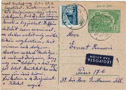 CIRC9- HONGRIE EP CP A DESTINATION DE PARIS NOVEMBRE 1953
