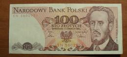 1986 - Pologne - Poland - 100 ZLOTYCH, SN 5602951 - Polonia