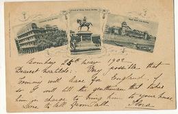 Pioneer Card Bombay 1902 Used To Mazargues Edit Marzban Germany Esplanade Hotel, Royal Yacht Club, Prince Of Wales - Indien