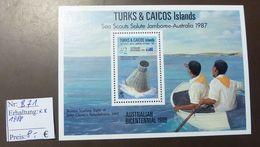 Turks Caicos Islands Glenn Splashdown  Nr: Block 71  ** MNH Postfrisch  #4709
