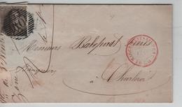 TP 1 S/L.écrite De Zône Obl.Barres+c.Marchienne-Au-Pont 22:2:1850 V.Charleroi C.d'arrivée - Postmark Collection