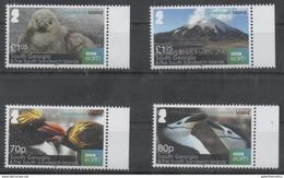 SOUTH GEORGIA, 2016, MNH, ZAVODOVSKI ISLAND, BIRDS, PENGUINS, MOUNTAINS,4v