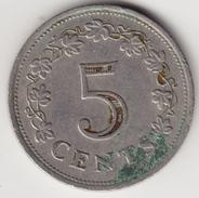 @Y@     Malta  5 Cent  1976    ( 4648 ) - Malte