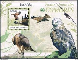 Bloc Sheet Oiseaux Aigles Birds Eagles  MNH  Neuf ** Comoros Comores 2009