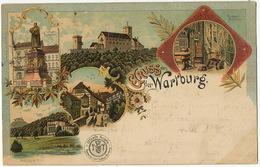 Gruss Aus Wartburg Color 1901 Luther  Edit. Wieprecht - Allemagne