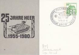 NPP 100/80 25 Jahre Heer 1955-1980. Kulmbach 1 - Privatpostkarten - Gebraucht