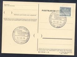Germany Deutschland 1960 Card: Deutsche Kegel Meisterschaften; Bowling; DKB Deutsche Kegler Bund - Briefmarken