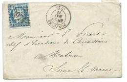 S N° 60 BLEU CERES SUR LETTRE / PONTOISE POUR MELUN 1873 - 1849-1876: Période Classique