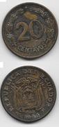 Ecuador : 20 Centavos 1944