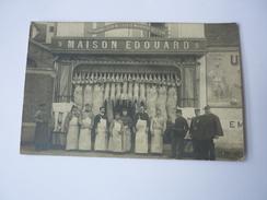 Cpa Carte Postale Ancienne Maison Edouard Boucherie Charcuterie Fournisseur Ecole Militaire Saint Cyr - Negozi