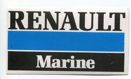 """Sticker Autocollant Moteurs Années 70 """"Renault Marine"""" Renault - Bateau - Boats"""