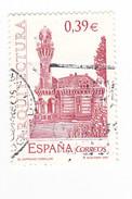 0,39 € - ARCHITECTURE - El CAPRICHOS COMILLAS - - 1931-Oggi: 2. Rep. - ... Juan Carlos I