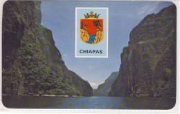 """CHIAPAS, Mexico - Canon """"El Sumidero"""" Y Escudo Del Estado, Nice Stamp - México"""