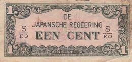 NETHERLANDS INDIES 1 CENT ND 1942 P-119b G - Billets