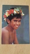 TAHITI PORTRAIT D'UN GARCON Carte Postale Neuve Années 70 Très Bon état Dos Partagé - Polynésie Française