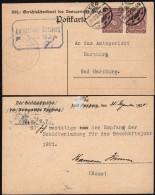 DR. Amtsgericht Harzburg Dienstpostkarte (Mi.18 MeF), Gel. OKER 31.12.1920. - Deutschland