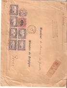 N° 139-140-145(6) Obl. STE ADRESSE/POSTE BELGE Du 21/1/17 S/L. Recom. Du Gvtbelge V/Berne Affr. 6,65 Pour Lettre Pesante - WW I