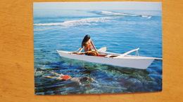 SPEAR FISHING ON TAHITIAN REEF - Carte Postale Neuve Années 70 - Très Bon état - Dos Partagé - Polynésie Française