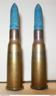 Lot De 2 Cartouches à Blanc Pour Fusil Lebel/Berthier (1937) - Armes Neutralisées